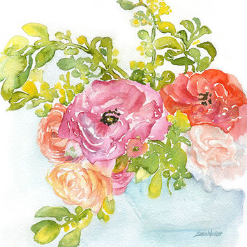 Ranunculus Watercolor