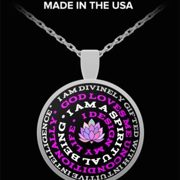 One With God Mantra Pendant Necklace