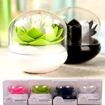 Lotus Toothpick Holder Creative Toothpick Box Plastic Storage Box Organizer Cotton Swabs Kitchen Home Decorations Christmas Gift
