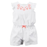 Baby Girl Carter's Embroidered Romper