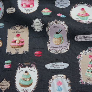Yuwa Fabric Macaron and sweets Half meter A12A