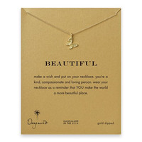 """Dogeared Beautiful Butterfly Gold Dipped 16""""Reminder Necklace"""