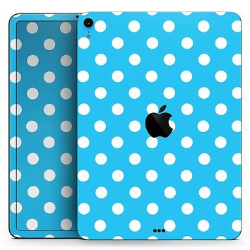 "Light Blue & White Polka Dot (Converted) - Full Body Skin Decal for the Apple iPad Pro 12.9"", 11"", 10.5"", 9.7"", Air or Mini (All Models Available)"