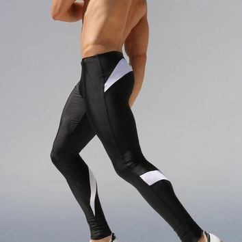 Mens Compression Pants Running Tights Men Joggers Jogging Skinny Sport Leggings Gym Compression Fitness Athletic Trousers