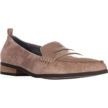 Dr. Scholls Eclipse Flat Penny Loafers, Putty Suede, 9 US / 39 EU