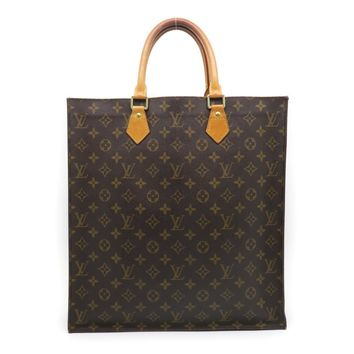LOUIS VUITTON Monogram Sac Plat Tote Bag Brown M51140 9558