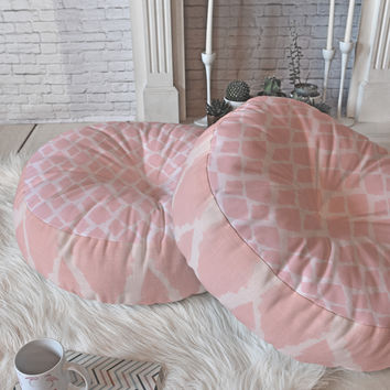 Allyson Johnson Blushed iKat Floor Pillow Round