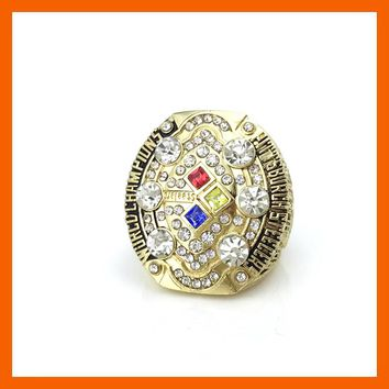 Drop shipping High Quality  2008 Super Bowl Replica Pittsburgh Steelers Championship Ring for Fans