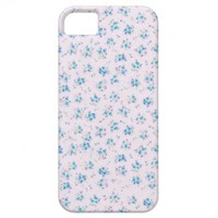 Vintage floral roses shabby chic blue rose flowers iPhone 5 covers