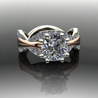 Forever Brilliant Moissanite and Diamond Infinity Engagement Ring 3.20 CTW