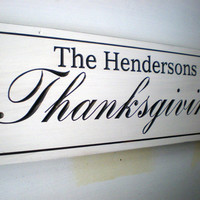 Personalized Thanksgiving Family Name Sign