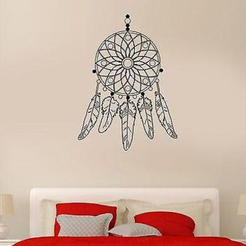 Wall Decal Dream Catcher Plumage Charm Pattern Bedroom Vinyl Stickers Unique Gift (ed150)