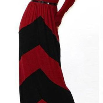 Long Sleeve Scoop Neck Maxi Dress