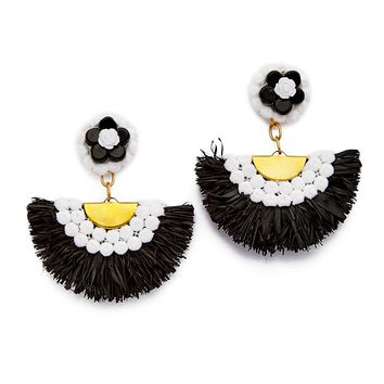 Shoulder Duster Earrings - Black