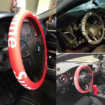 Supreme Car Acessory On Sale Hot Deal Stylish Steer Wheel Cover [429893582884]