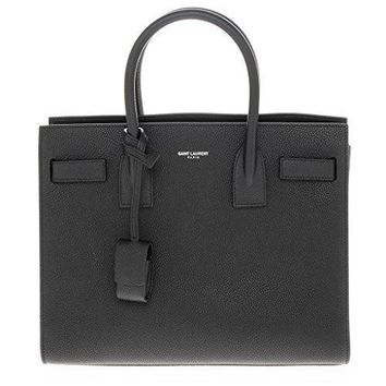 Saint Laurent Women's Baby Sac De Jour Grained Handbag Black