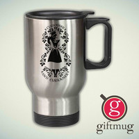 Alice in Wonderland Curiouser and Curiouser 2 14oz Stainless Steel Travel Mug