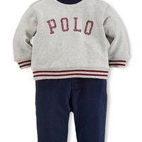 Ralph Lauren Childrenswear Baby Boys Logo Pullover and Pants Set
