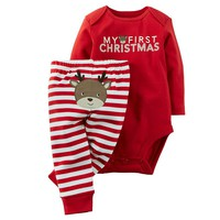 Carter's ''My First Christmas'' Bodysuit & Pants Set - Baby Neutral, Size: