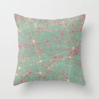 LINK abstract I Throw Pillow by AMULET