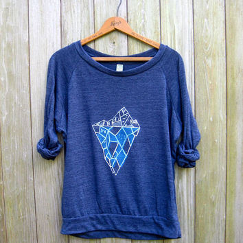 please don't go Iceberg! Geometric Shirt, Blue Pullover, Iceberg Shirt, Xmas Gift