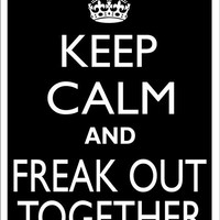 KEEP CALM and FREAK Out Together Tin Aluminum Parking sign home decor wall hanging