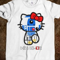 star wars ANDROID Hello kitty r2d2 KIDS TEE TSHIRT