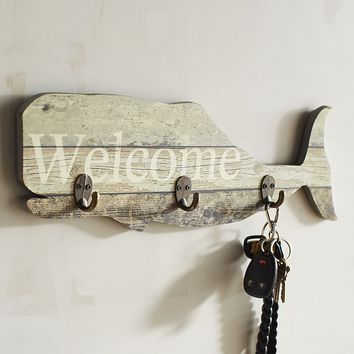 Planked Whale Wall Hooks