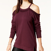Joe's Cotton Cold-Shoulder Sweatshirt | macys.com