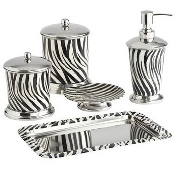 Zebra bath accessories from pier 1 imports epic wishlist for Zebra bathroom accessories
