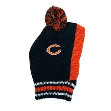 ICIKOP9 Chicago Bears Pet Knit Hat