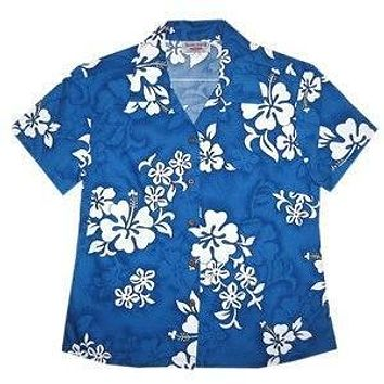 waves hawaiian lady blouse