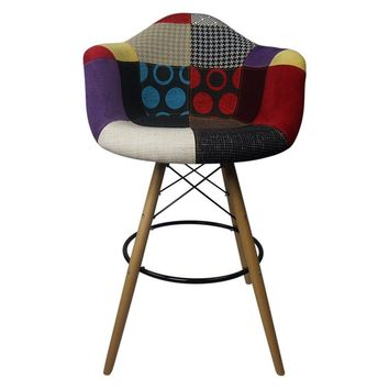 DAW Patchwork D - Bar Eiffel Armchair Stool - Reproduction | GFURN