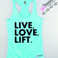 Live Love Lift Motivation Tank Top