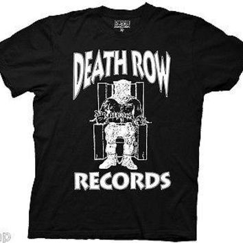 Death Row Records T-Shirt Tupac Dre Adult Men S-2XL Black White