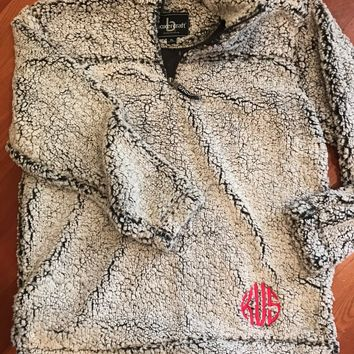Monogrammed Youth Sherpa Pullover - 4 Colors!