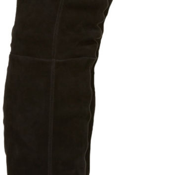 Black Suede Catherine Over-the-Knee Boots