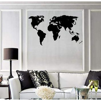 Wall Sticker Vinyl Decal World Map Travel Geography Earth Cool Decor (ig751)