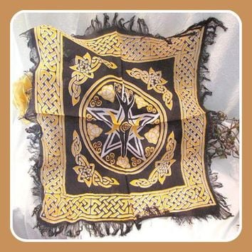 Pentagram Goddess Altar Cloth