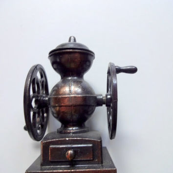 Vintage Die Cast Metal Coffee Grinder Pencil Sharpener 1970s