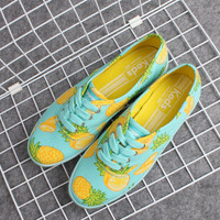 Pineapple Pattern Summer Fashion Style Lovely Women and Men Gift = 4697507268