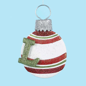 3 Christmas Ornaments - Monogram L