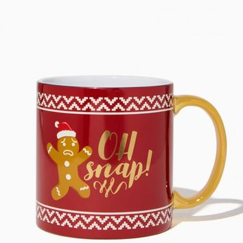 Oh Snap Gingerbread Mug | Charming Charlie