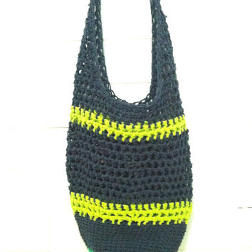 Sling Market Bag, Mesh Market Bags, Reusable Grocery Bags, Boho Bag, Cross Body Bags, Cotton Grocery Bags, Crochet, Slouch Bag, Sling Hobo