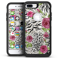 Animal Vibe Floral - iPhone 7 or 7 Plus Commuter Case Skin Kit