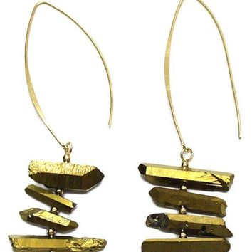 Tiered Stone Earrings