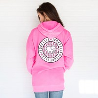 Oversized Neon Pink Ribbon Hoodie