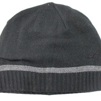 Nautica Unisex Basic Black/Gray 1 Stripes Beanie Hat
