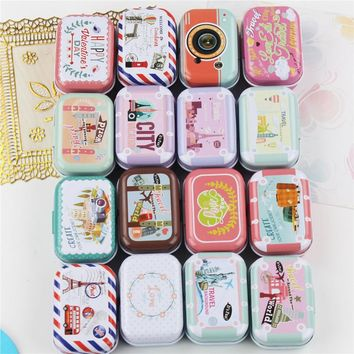 Beautiful Big Flower Rectangle Tea Box,Kitchen Accessories Candy Coffee Sugar Storage Tin Boxes,Portable Metal Box Bin