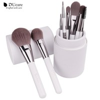 DUcare Makeup Brushes professional Cosmetics brush Set   Synthetic Hair With White Cylinder brushes set